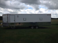 27ft enclosed snowmobile trailer