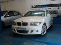 BMW 116 2.0TD 2009MY D DIESEL M SPORT WHITE 1 F OWNER FULL SERVICE HISTORY