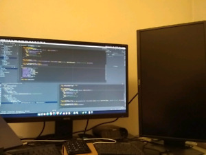 Mint condition monitors - 27'' @2560x1440 and 24'' @1920x1080