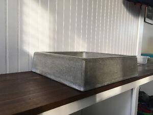 Unique custom made concrete vanity sink
