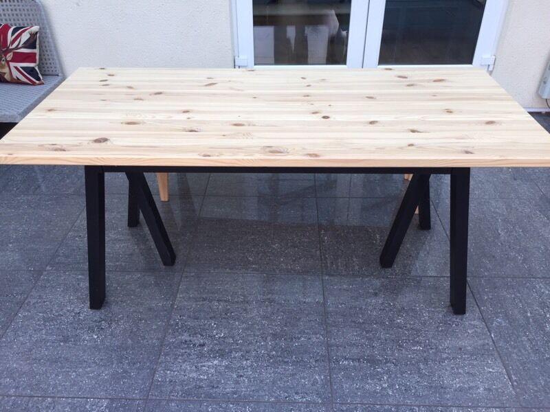 Ikea Ryggestad dining table with Grebbestad legs in  : 86 from www.gumtree.com size 800 x 600 jpeg 75kB