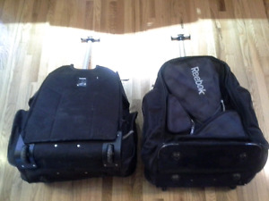 Large Hockey Bags w) Wheel & 7 Compartments and Knapsack Straps