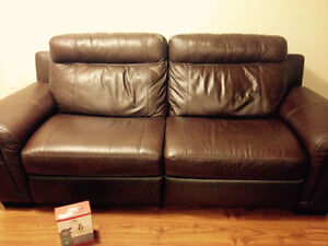 Luxury Genuine Leather reclining couch NEW London Ontario image 8