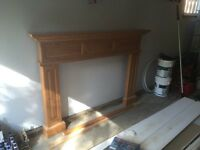 Fireplace Mantel and Trum