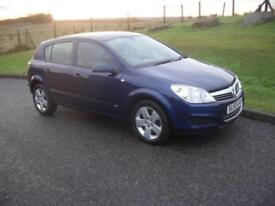 Vauxhall/Opel Astra 1.6 16v ( 115ps ) ( a/c ) 2008MY Life 68200 Mls 5 Dr Blue