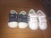 Clarkes & adidas trainers