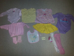 Girl's Size 0-3M ,  3M ,  3-6M , & 6-9M Clothing Items for Sale!