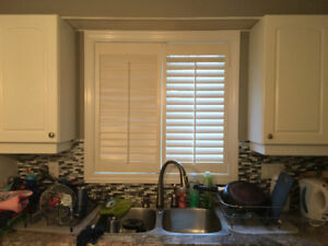 Wood shutters- 19 x 37 approximately