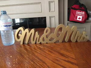 Mr & and  Mrs Wooden Sign - Wedding Decoration