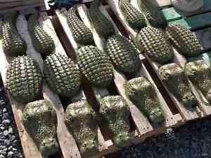 Large 3 piece Crocodile Statue