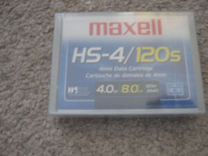 Maxell HS-4/120s 4mm Data Cartridge -new and sealed + more