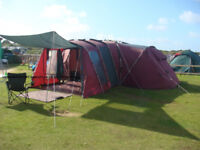 Khyam Ridgi-Dome Espace Tent - HUGE! Incredibly spacious/palatial for family of 4 or sleeps up to 12