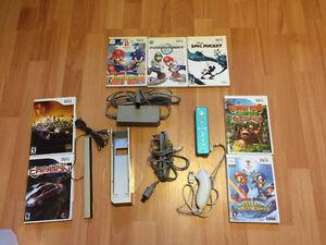 console wii et 7 jeux