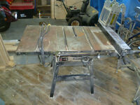 Rockwell Table Saw 12.6 Amp Extended Bench new 10 inch blade