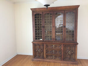 Two piece hutch with sideboard