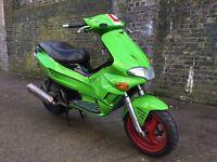 2005 Gilera Runner 125cc learner legal 125 cc with 210cc racing kit. Has 1 years MOT.