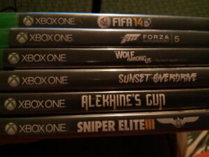 Xbox One video games $10 each or $40 for the 6 games