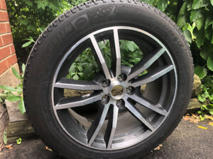 Mustang winter tires on factory aluminum mags