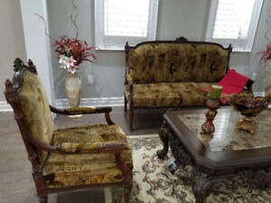 Sofa Set 3 pcs - Real Sheesham Wood - Imported from Pakistan
