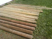 fence posts and other building supplies