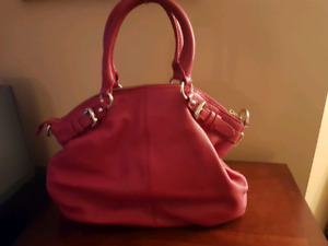 Red leather purse - Danier