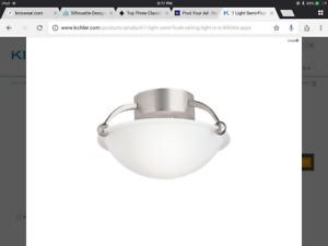 Kichler Semi Flush Ceiling Light Nickel 8404 NI