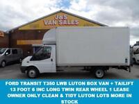 2012 12 FORD TRANSIT T350 L.W.B LUTON BOX VAN T350 2.4 DIESEL 1 OWNER VAN IN A1