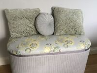 Beautiful Ottoman, Blanket Box, vintage Lloyd Loom, would make a lovely window seat.