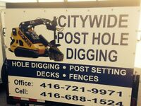Citywide Post Hole Digging 416-721-9971