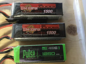 RC Batteries — ( 3 ) 6S Lipo batteries Trade for 3S Lipo