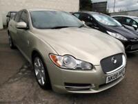 2008 08 Jaguar XF 2.7TD auto Premium Luxury 4 Door Gold 86K FSH, Cream Leather