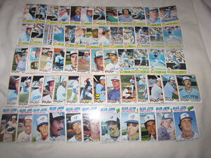 Over 400 Blue Jays cards from 1970s, 80s and 90s