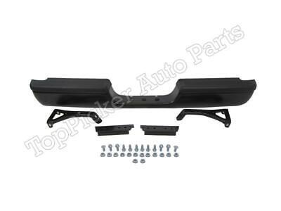 For 94-02 Dodge Pickup Ram New Style Rear Step Bumper Black Assy W/Pad Brakcet