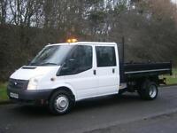 2013(63) Ford Transit T350 LWB D/C CREW CAB TIPPER, Euro 5, 58000miles, FINANCE?