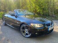 BMW 3 Series Convertible 320D Sport Plus 2 Door Automatic Black Cabriolet 2012