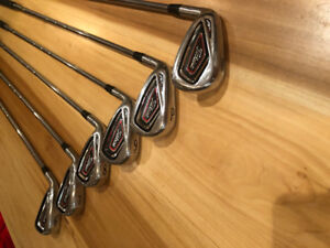 Titleist 716 AP1 irons, Taylormade EF Tour Grind Wedges - LH
