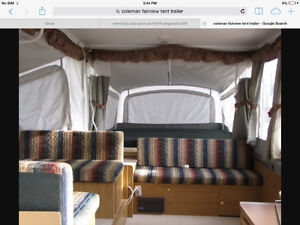 Coleman Fairview tent trailer with slide out