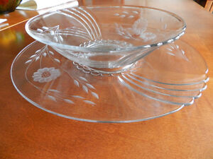 Vintage Hughes Corn Flower Bowl and Hostess Plate Kitchener / Waterloo Kitchener Area image 2