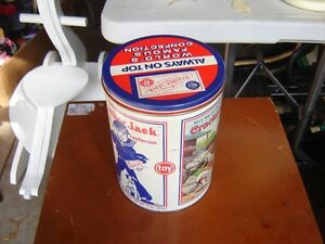 METAL CAN WITH CRACKER JACKS SAILOR/COLLECTIBLES