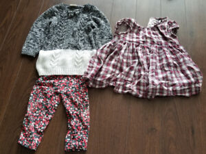 12 month girls outfits