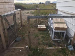 Chicken coop with enclosure