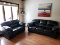 Premium High quality Leather Couch and Loveseat