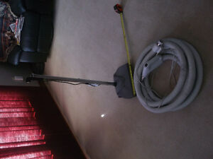central vac hose and power bar