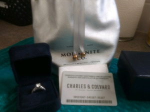 0.75ct forever one moissanite engagement Ring  price 700 cad