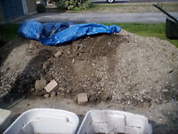 2 cubic yards of fill need gone asap