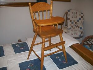 Solid Oak Doll High Chair Kitchener / Waterloo Kitchener Area image 3