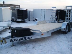 2017 EXCALIBUR GALVANIZED 7 TON LOW BED BOBCAT/EQUIP TRAILER