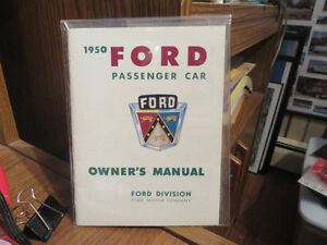 1950 Ford Owners manual--27 pgs