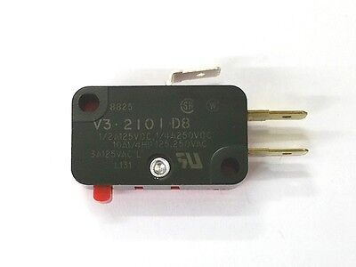 New Micro Switch V3-2101-d8 Spdt On - On Pin Plunger Snap Action Switch 10a
