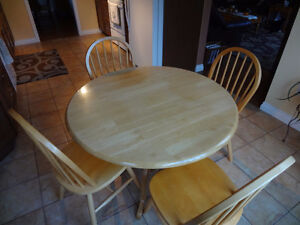 Kitchen Solid Wood Dining Set - 4 Chairs
